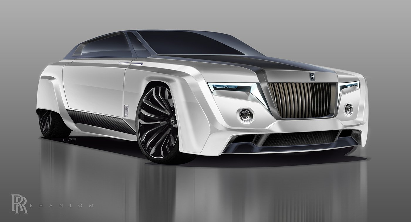 Rolls-Royce Phantom from the year 2050 could look like ...