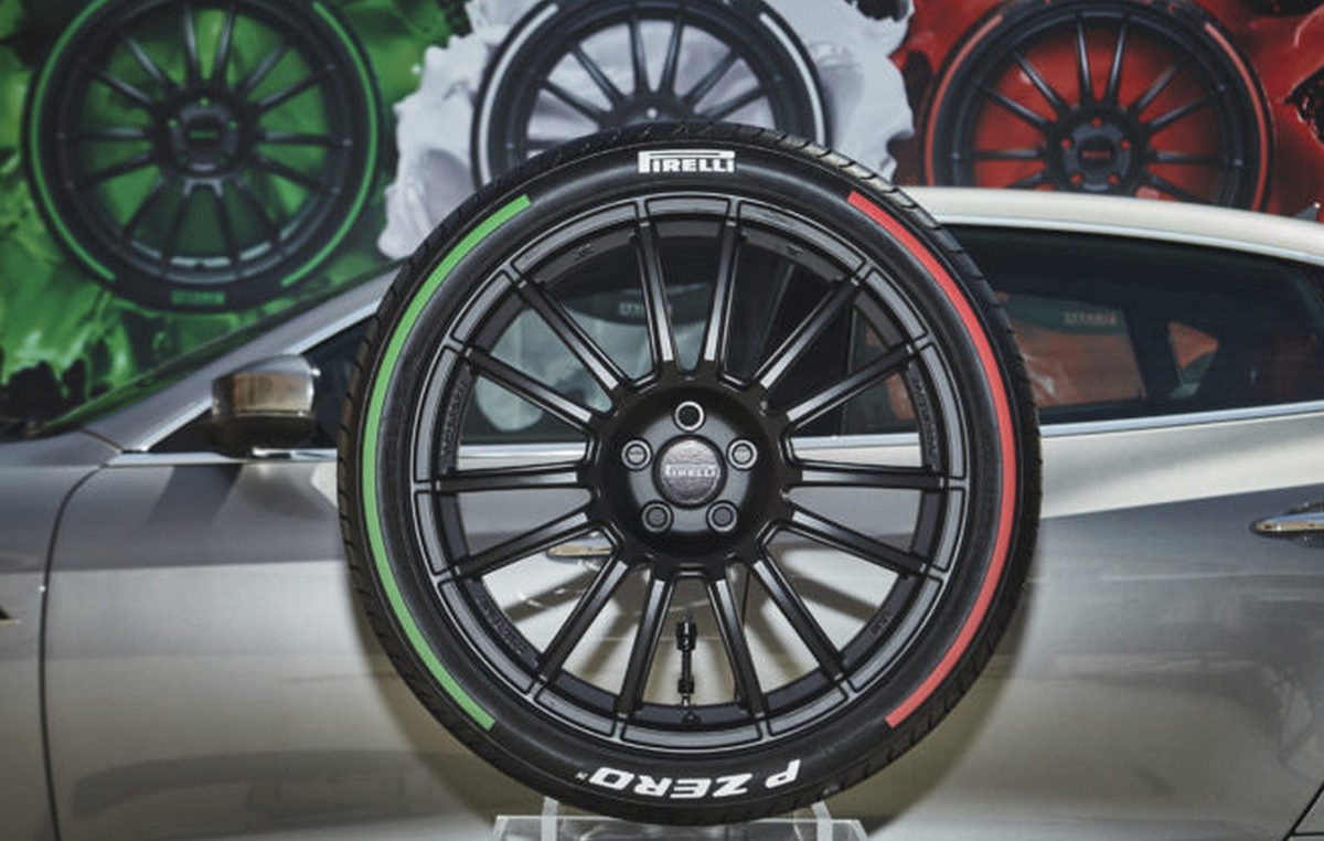 Pirelli launches limited edition tires that come with the Italian Flag's colors on the sidewall