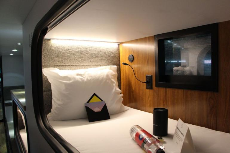 enter cabin a special sleeping bus for luxurious travels