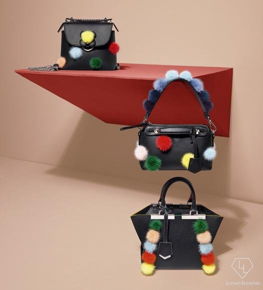 01_FENDI Multicolour Fur Pompons_Bags