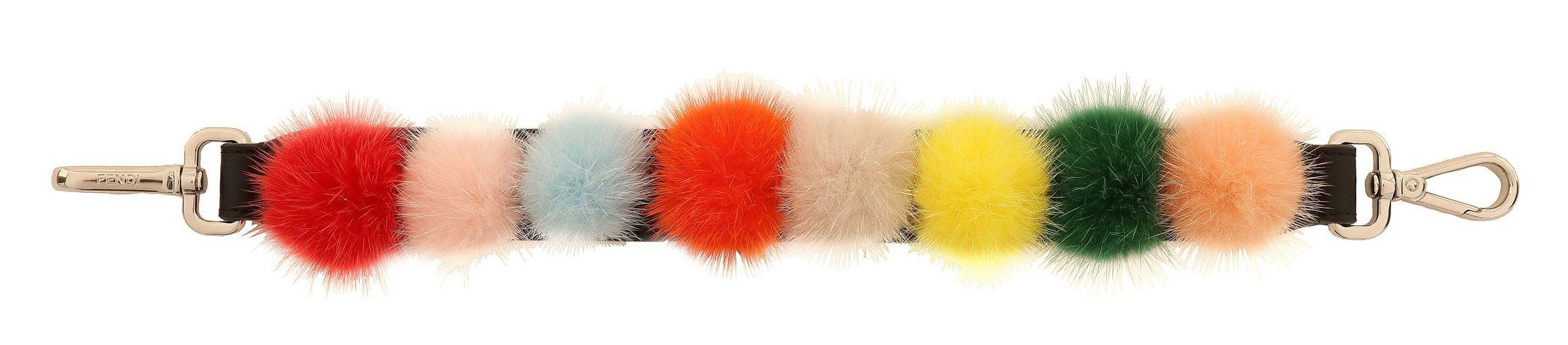 02_FENDI Multicolour Fur Pompons_Packshot_Mini Strap You
