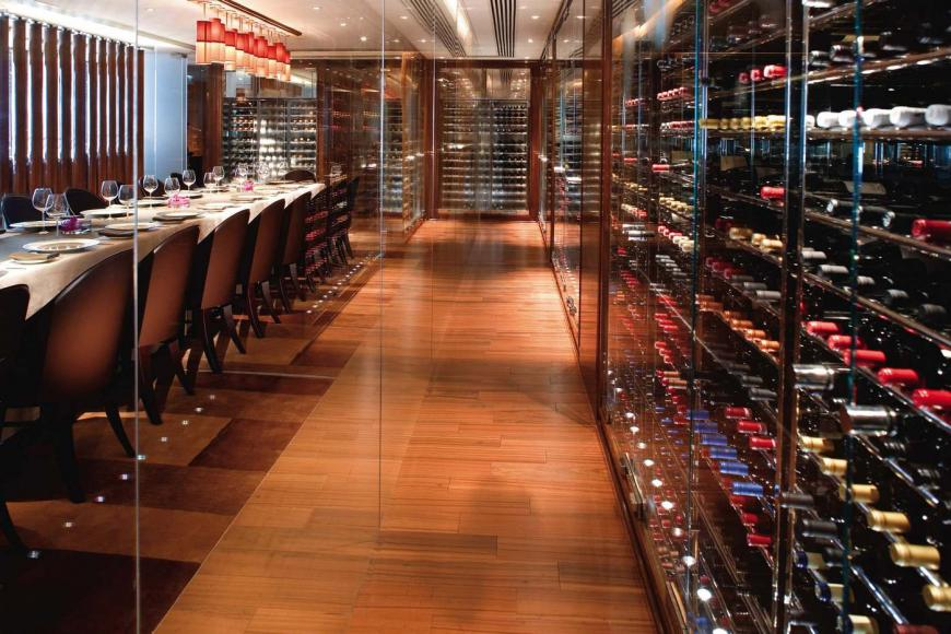 Amber wine room