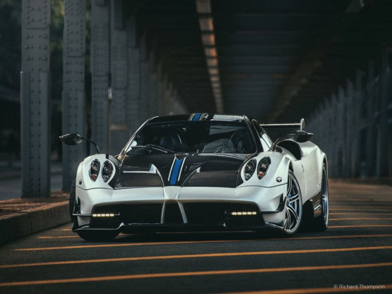 Here's a behind-the- scenes look at photographing a $2.5 million Pagani Huayra with a $50k camera