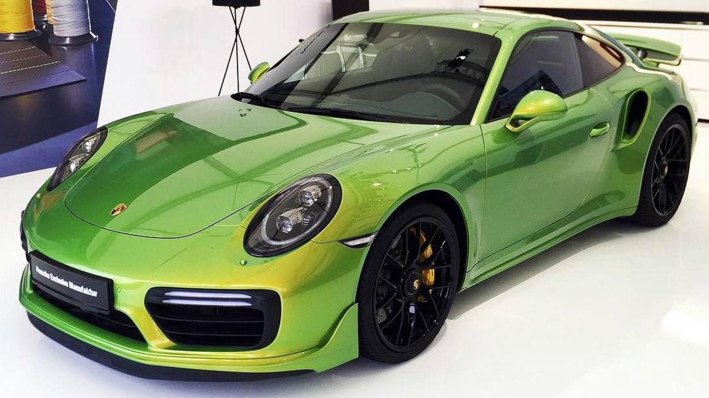 You better believe it: At $97,000 the paint on this Porsche costs more than a Porsche