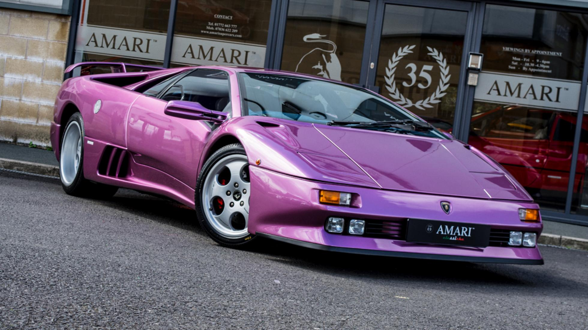 Jay Kay's purple Lamborghini Diablo from 'Cosmic Girl' is on sale for $717,000