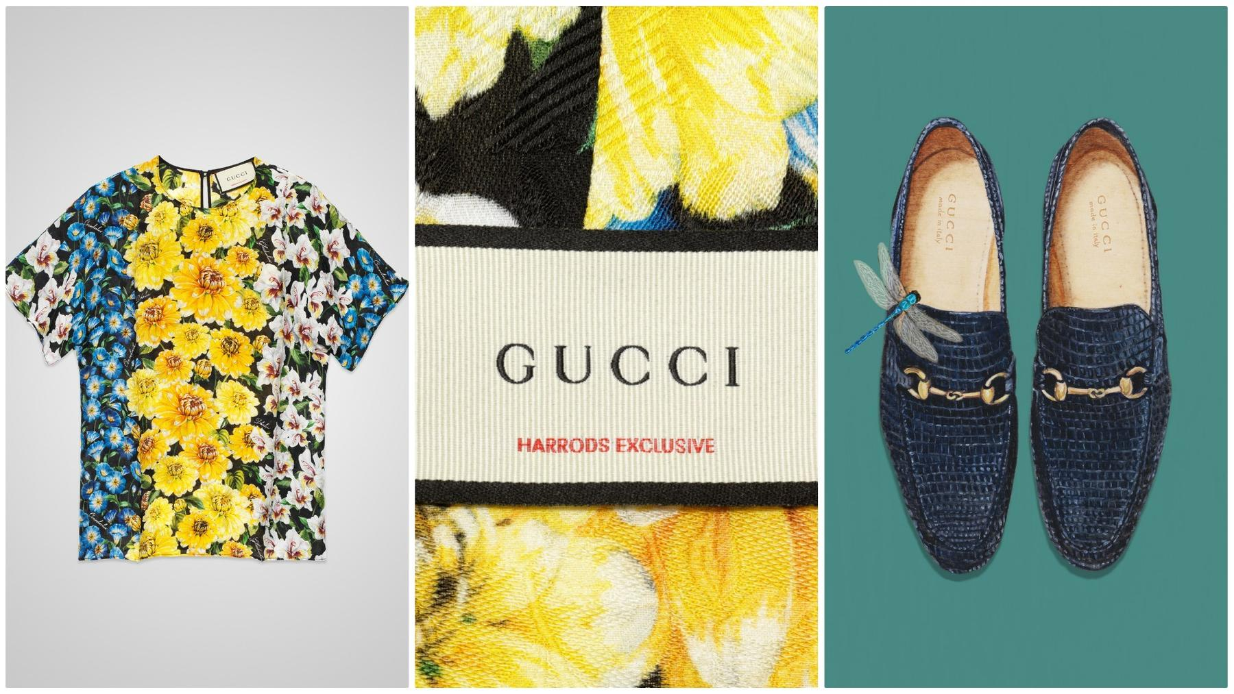 dbaa72d441c Gucci partners with Harrods for a Garden-themed display of exclusive  products -