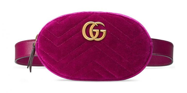 gucci bags velvet. the iconic fanny pack forms part of gucci\u0027s ensemble in two bold colorways \u2013 a bright fuchsia and blue beaut. each piece is constructed from premium gucci bags velvet v