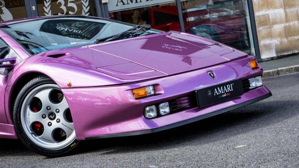Front Wheel Drive Cars >> Jay Kay's purple Lamborghini Diablo from 'Cosmic Girl' is ...