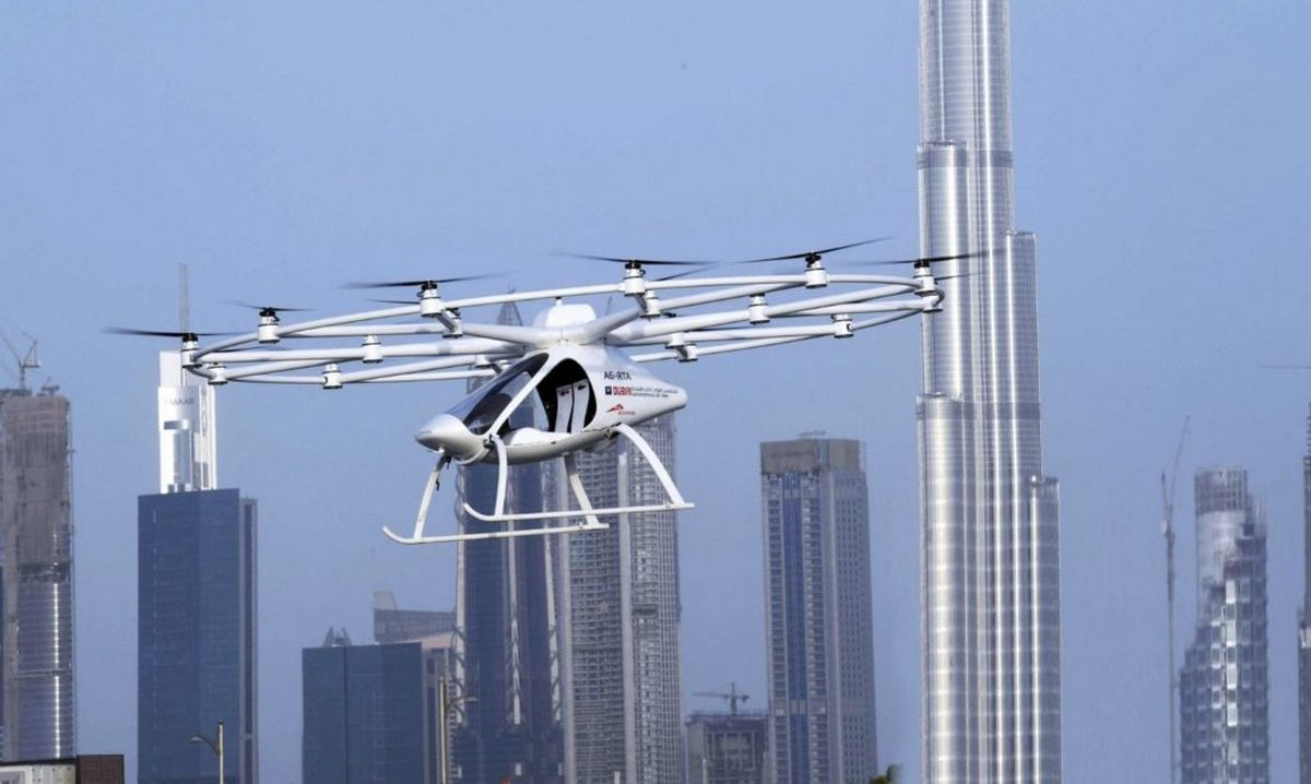Dubai has begun testing two passenger flying drone taxis