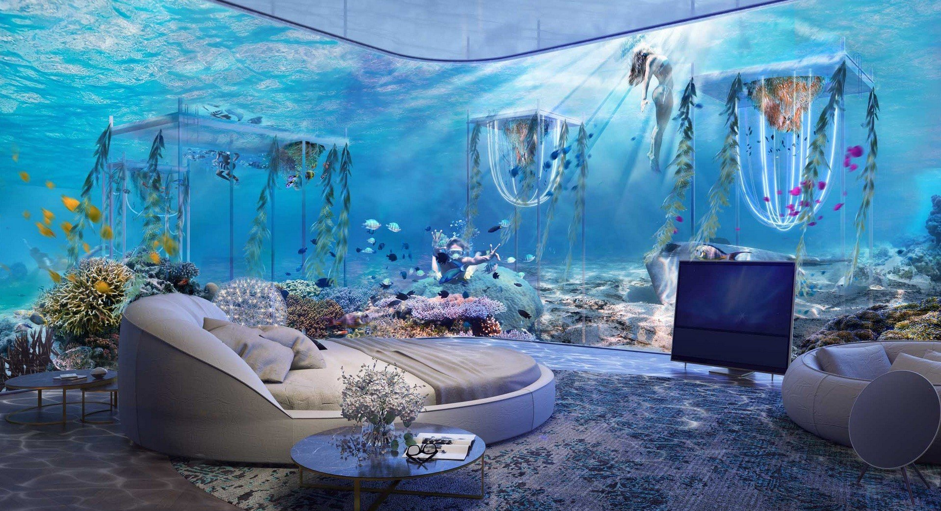 The world s first underwater luxury vessel resort will for Luxury accommodation worldwide