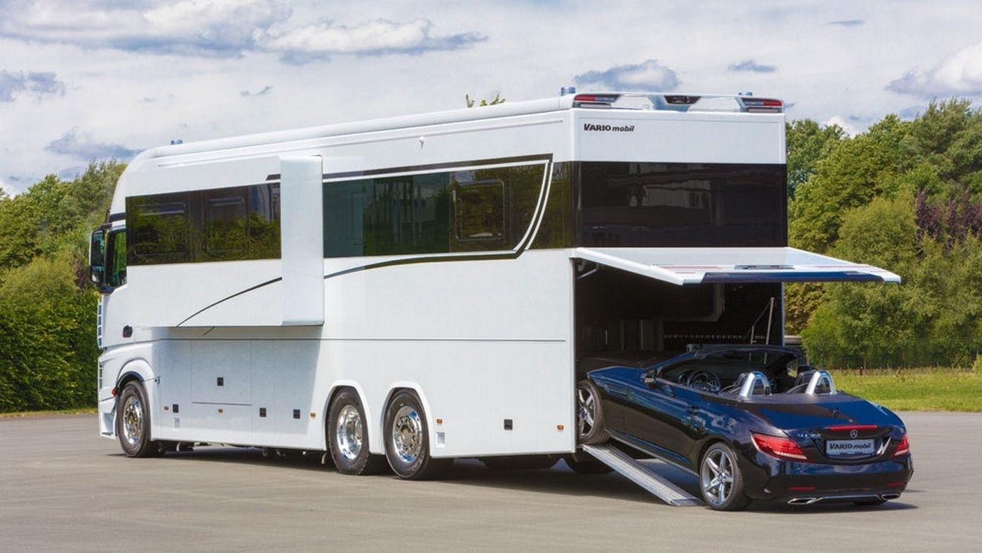 This $1 million motorhome is a luxury yacht on wheels for your family and your Porsche -
