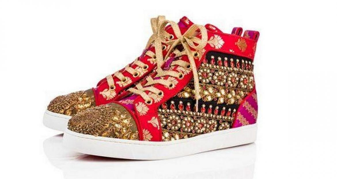 dd73fccf10d4 French footwear and accessory designer Christian Louboutin has collaborated  with Indian couturier Sabyasachi Mukherjee to create a limited edition ...