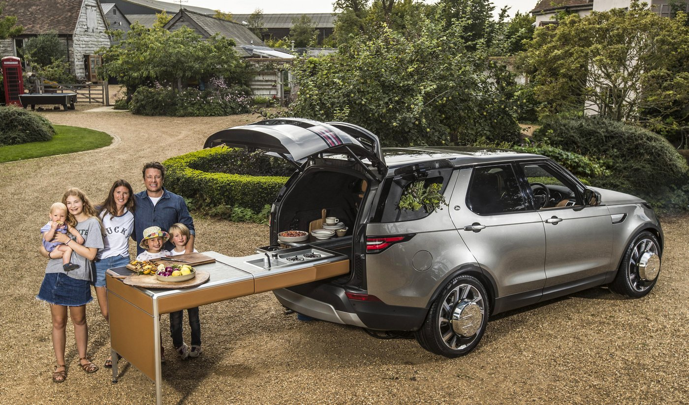 Land Rover builds the ultimate kitchen on wheels for celebrity chef Jamie Oliver