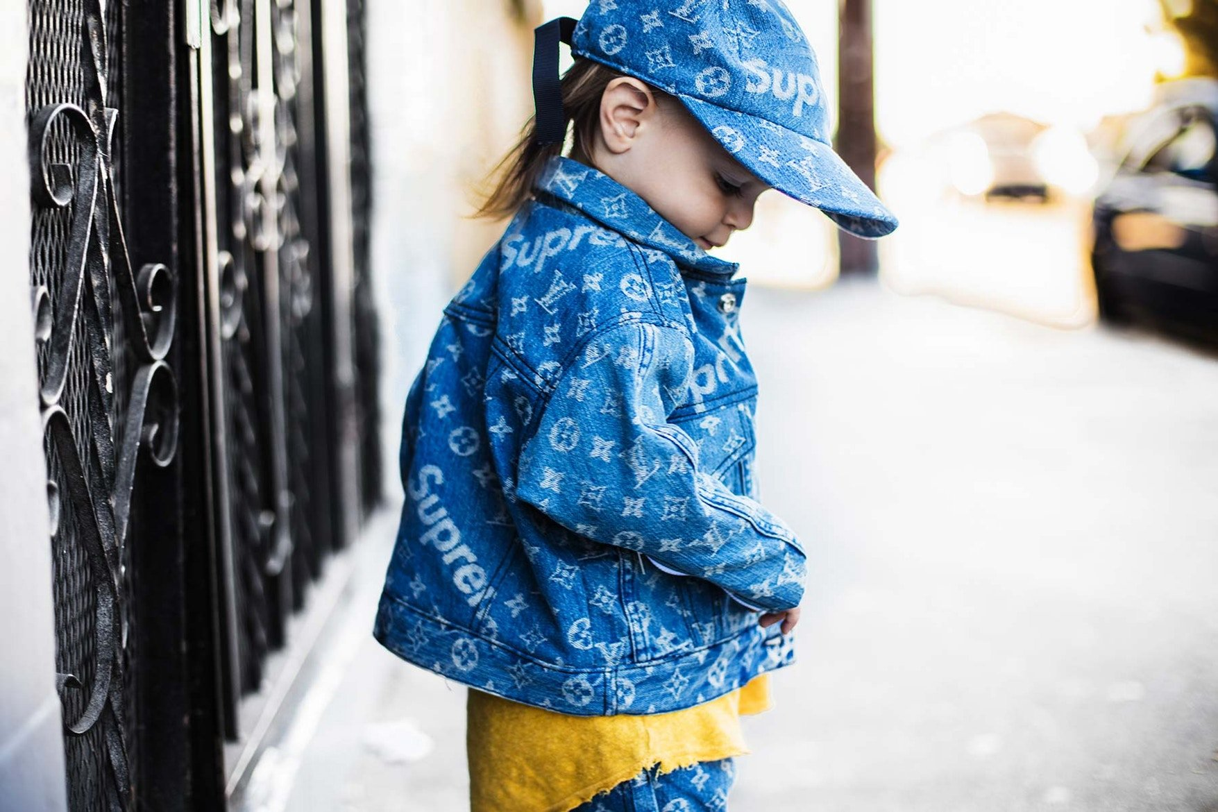 0355bb28a0fe Louis Vuitton x Supreme for kids  This DIY will blow your mind -