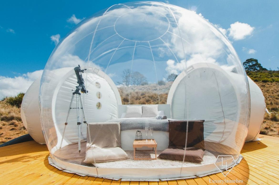 From suspended tents to rooftop Airstreams weu0027ve seen it all. Or at least we thought we had until someone introduced us to the Bubble ... & Living in a bubble gets a whole new meaning with this Australian ...