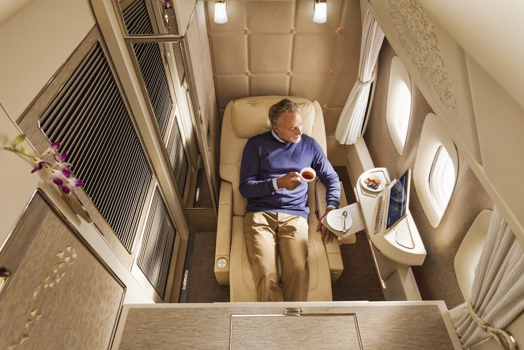 Zero gravity seats, virtual windows and more – Take a look at the new Emirates first class suite inspired by the Mercedes S-Class