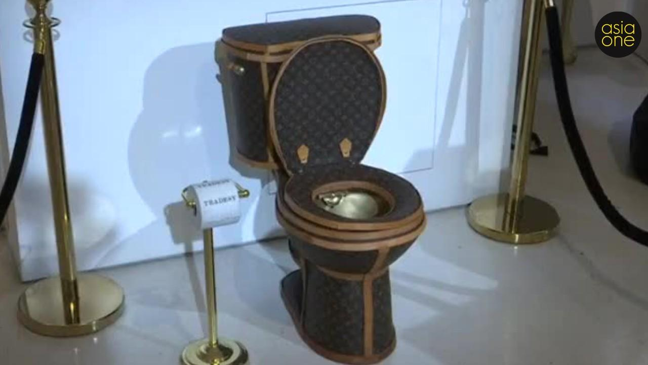 Most Expensive Cars >> Yes, this is real - A golden toilet covered in Louis ...