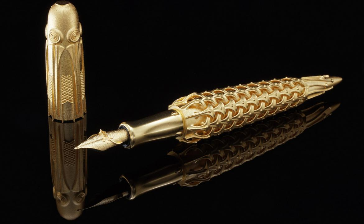Discover the world's first 3D printed solid gold fountain pen fountain pen Discover The World's First 3D Printed Solid Gold Fountain Pen Pjotr SVgold BO 1170x722