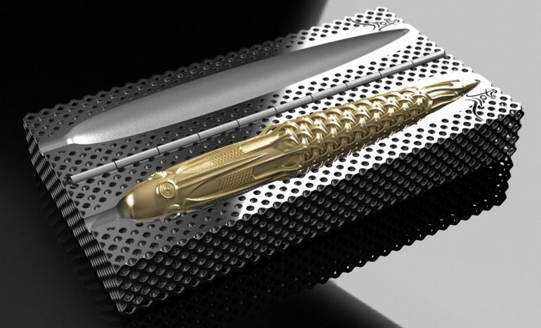 Discover the world's first 3D printed solid gold fountain pen fountain pen Discover The World's First 3D Printed Solid Gold Fountain Pen Pjotr SVgold Box 770x468