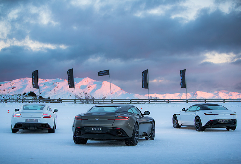 Fancy driving an Aston Martin DB11 Volante on ice in Hokkaido, Japan?