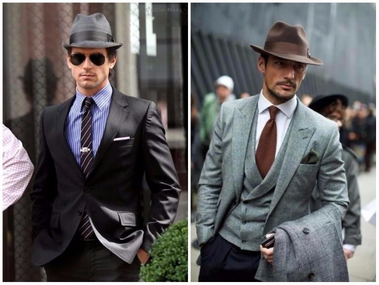 With a full suit. This look can venture into overkill easily so go easy on  the other accessories. Matt Bomer has paired his toned down hat with a  simple ... 66d1ccf5dd8