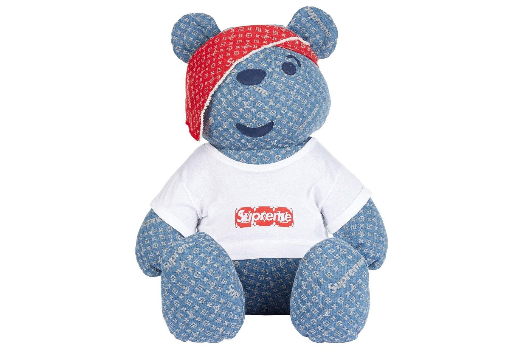 This Louis Vuitton X Supreme Teddy Bear
