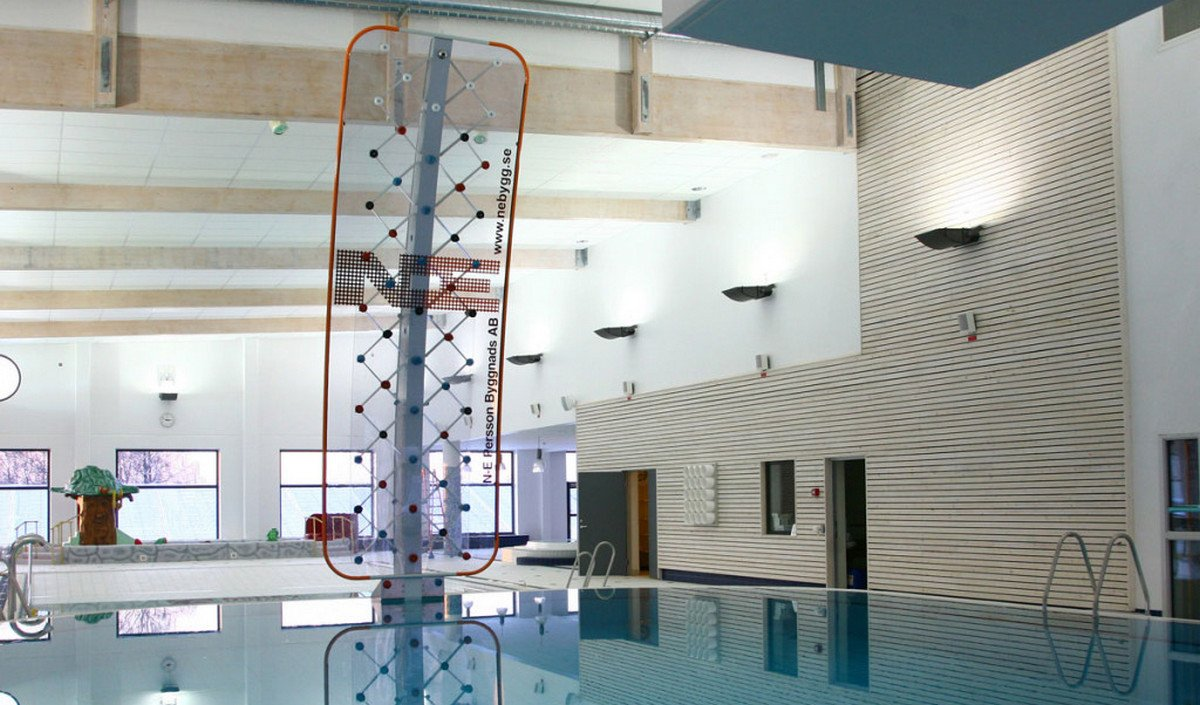 You can now have a rock climbing wall for your swimming pool -