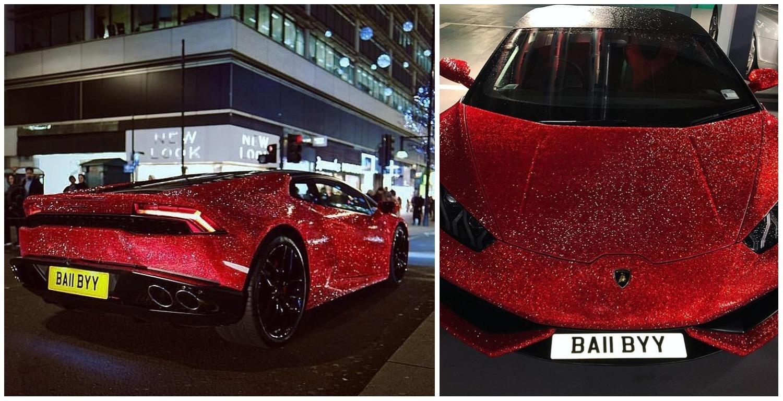 Daria Radionova Swarovski Studded Lamborghini Huracan