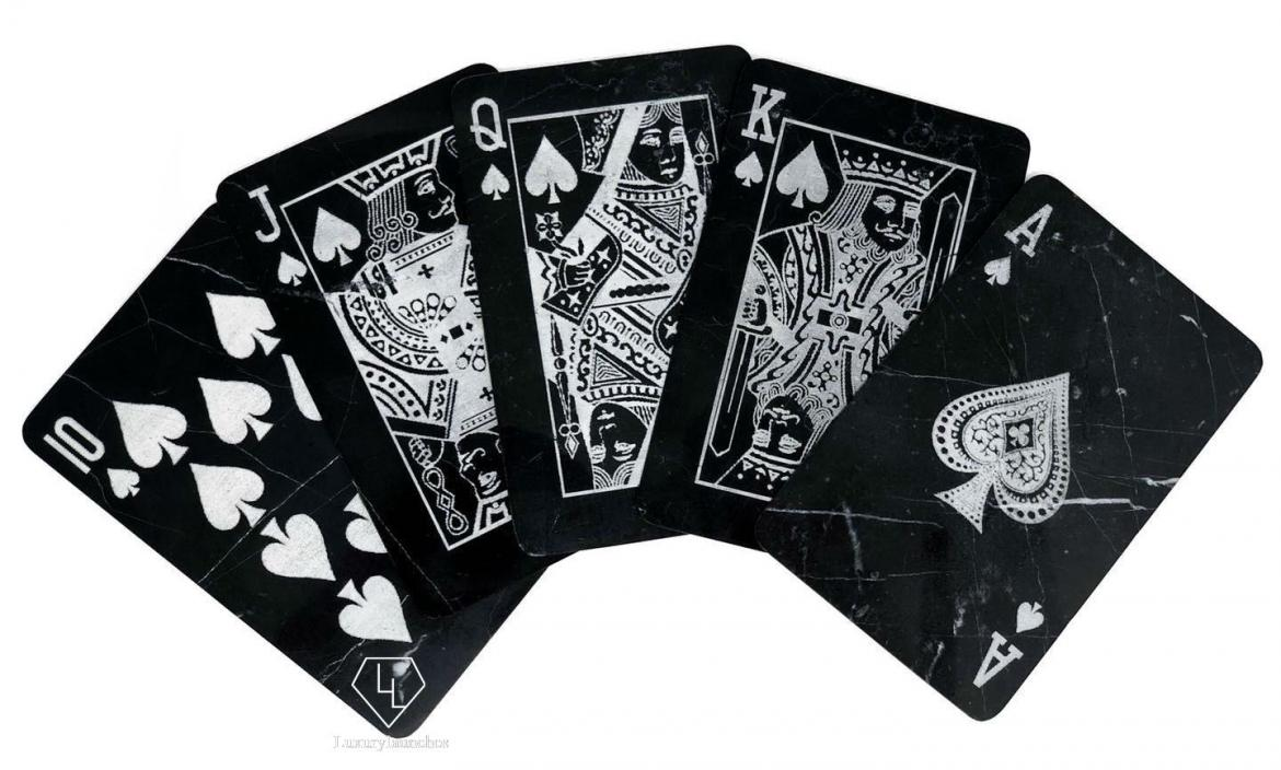 The worlds first real marble poker cards -