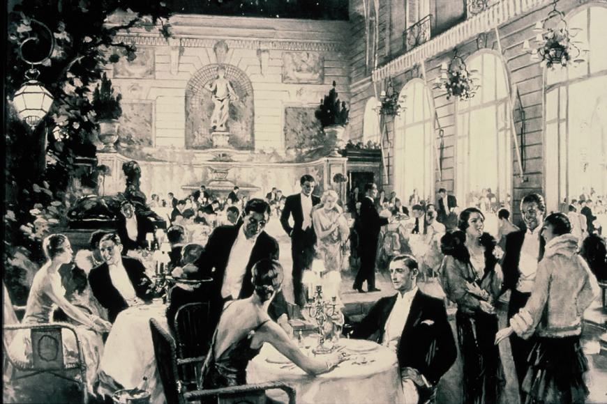 Les fêtes grandioses dans les jardins du ritz pendant les années folles @Archives Ritz