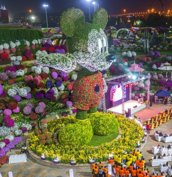 Mickey Mouse floral structure dubai (2)