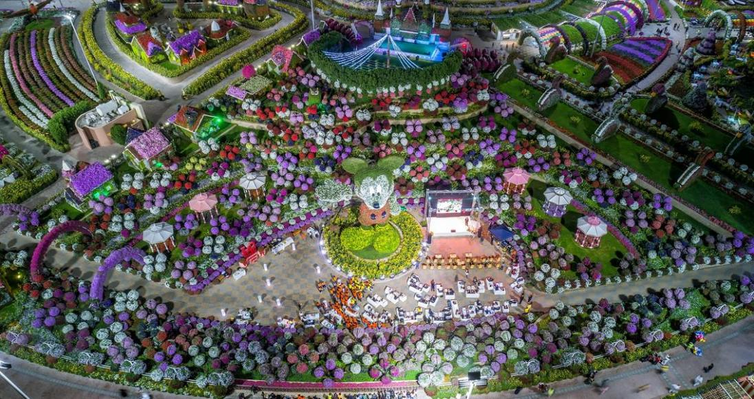 Mickey Mouse floral structure dubai (3)