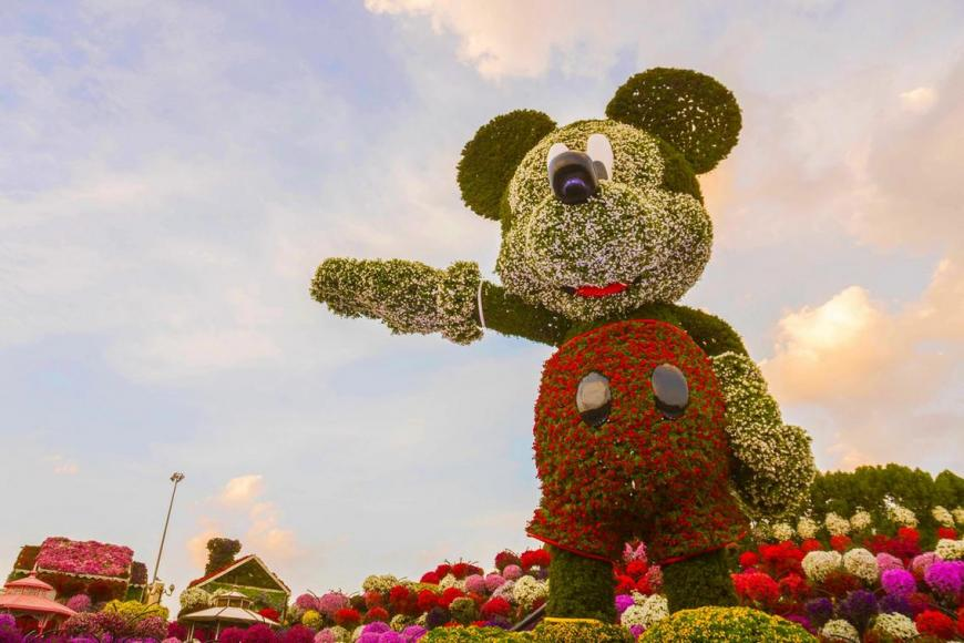 Mickey Mouse floral structure dubai (4)