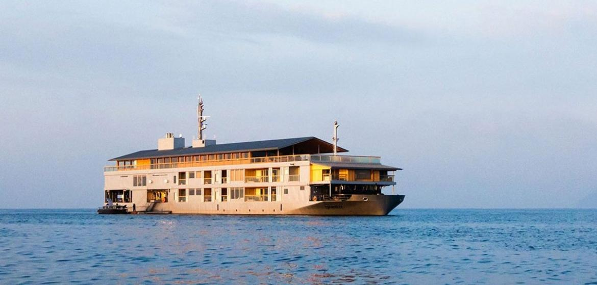 Floating Hotel Part - 37: Weu0027re Adding Japanu0027s Guntu Hotel To Our List Of Must Visit Properties Of  2018. What Makes It So Noteworthy? Guntu Is A Floating Hotel Located In The  Waters ...