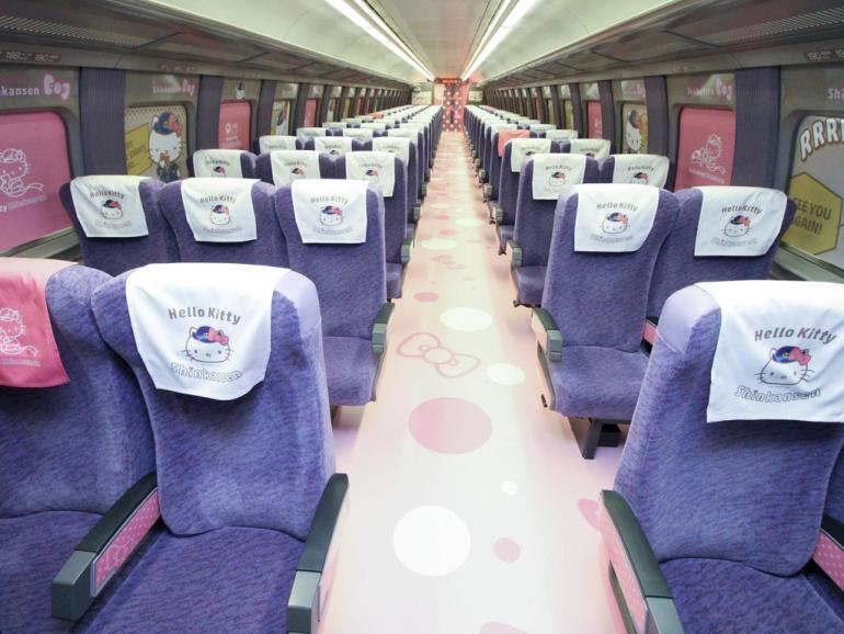 ca85a9ab7 Japan or rather the worlds most famous kitty will be smiling down on all  the passengers one car will feature a full-sized Hello Kitty doll for that  #omg ...