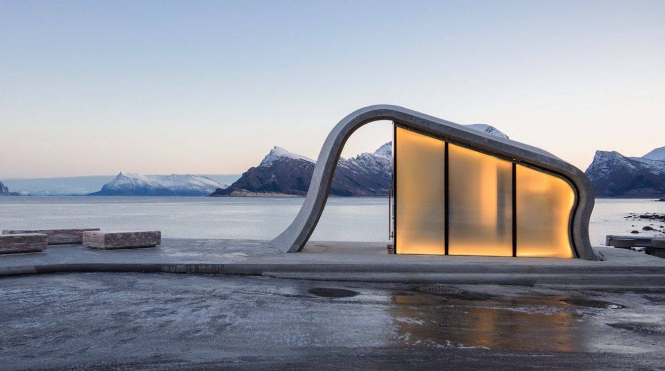 With views of the Northern lights could this be the worlds most scenic public toilet? -