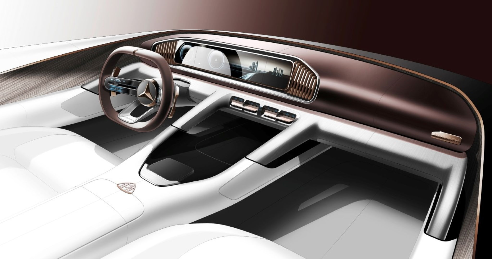 mercedes maybach suv concept s interior teased. Black Bedroom Furniture Sets. Home Design Ideas