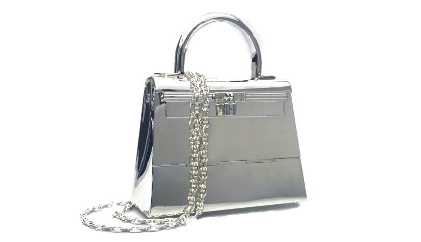 This Sterling silver Hermès Kelly sold at auction for over $63,000 -