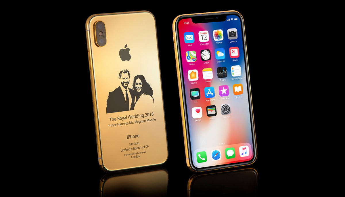 Inspired by the Royal wedding this 24K Gold iPhone X costs $4,000 : Luxurylaunches