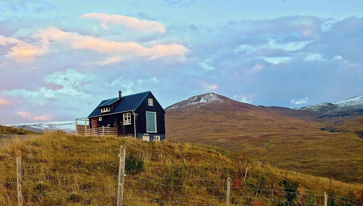 This AirBnB cabin in the mountains gives a true taste of Iceland's beauty