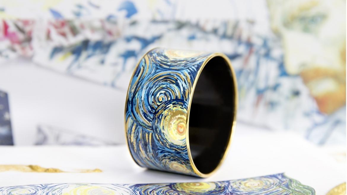 An Austrian band has created a stunning enamel jewelry line inspired by the works of Van Gogh -