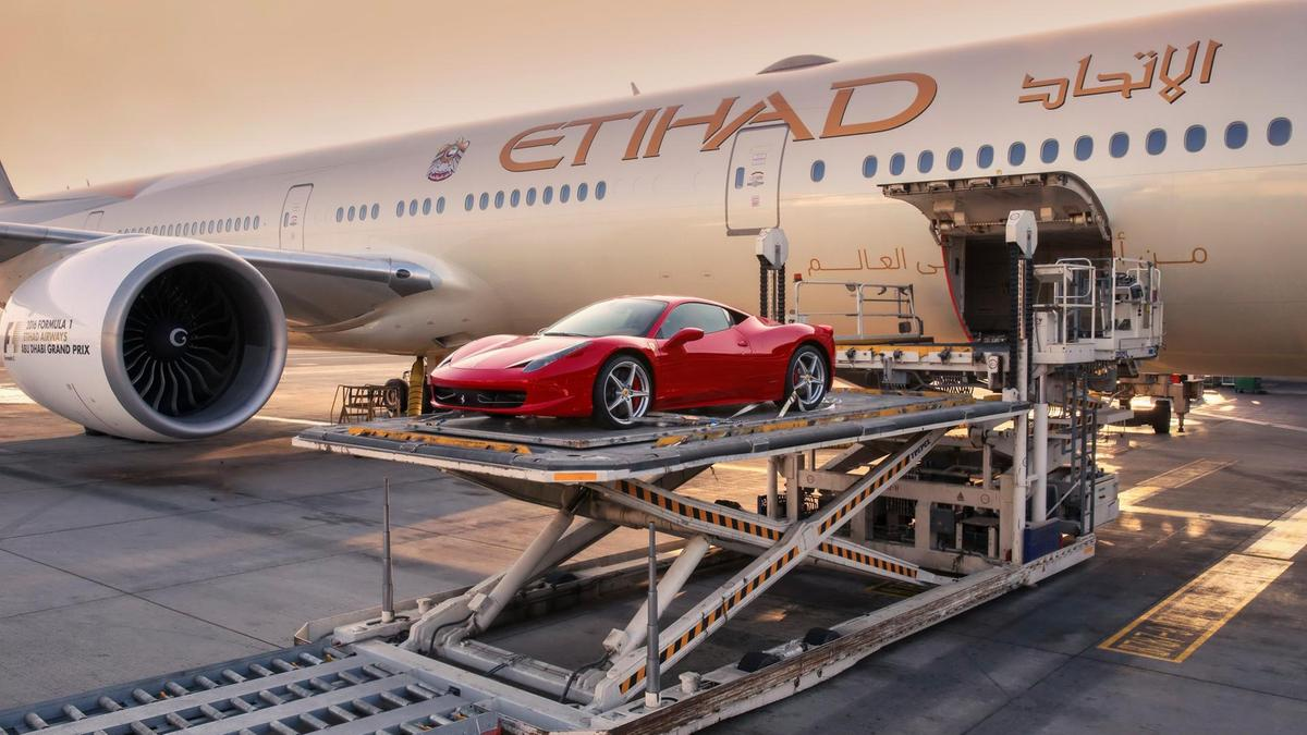 Etihad's new service will make it easier for Arab millionaire boy racers to bring their supercars to Europe for the Summer