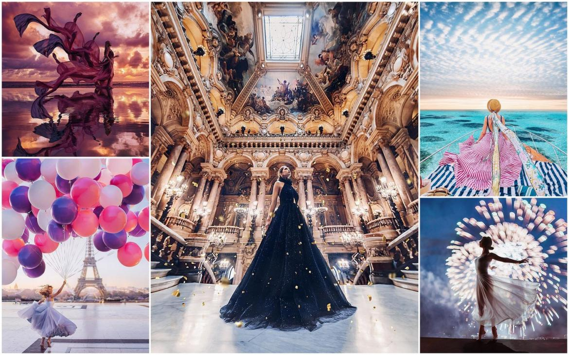 This photographer shoots women wearing stunning gowns at picturesque locations - Here are the 8 most stunning images from her Instagram -