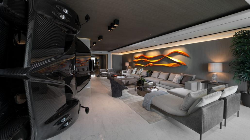 Miami condo Pagani Zonda R room divider (5)
