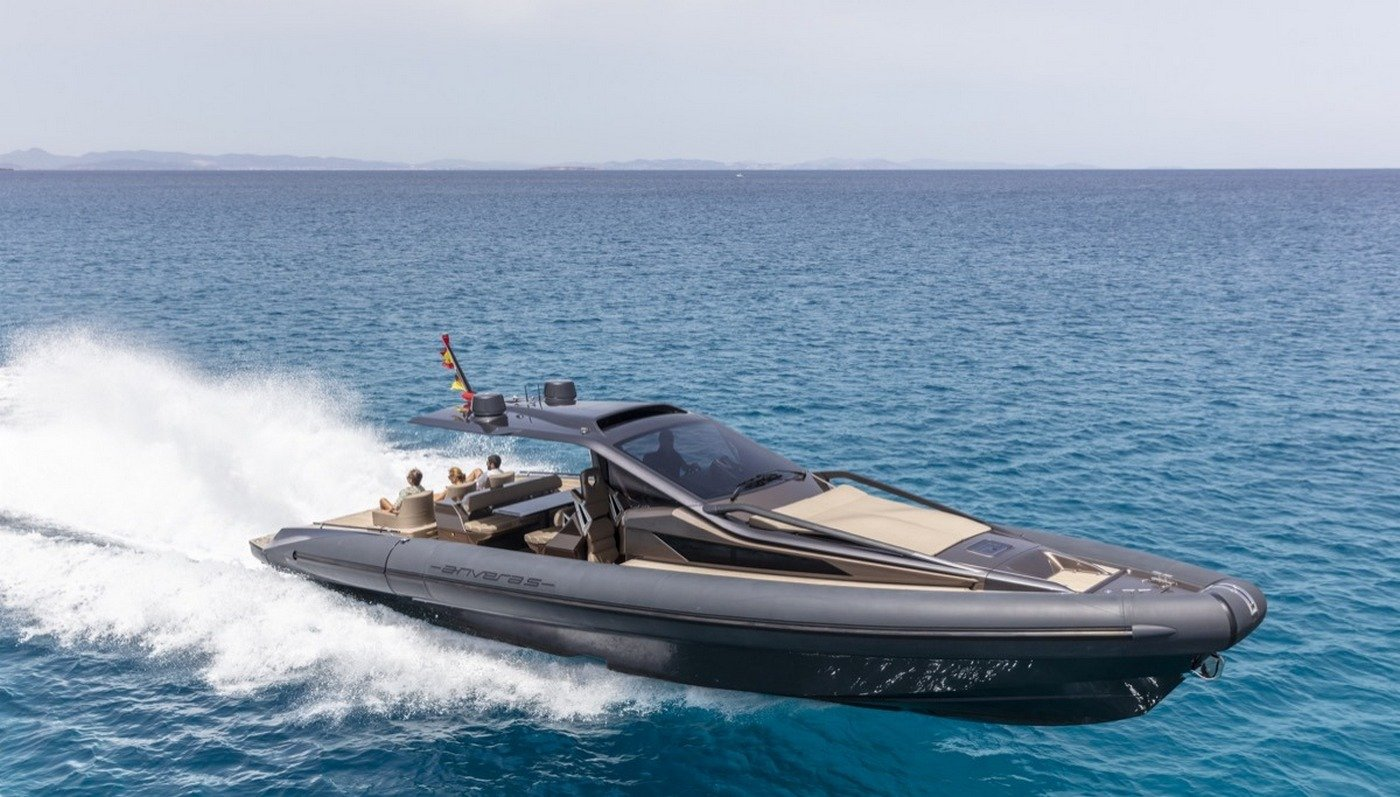 This carbon fiber yacht tender is one of the coolest boats you will see -