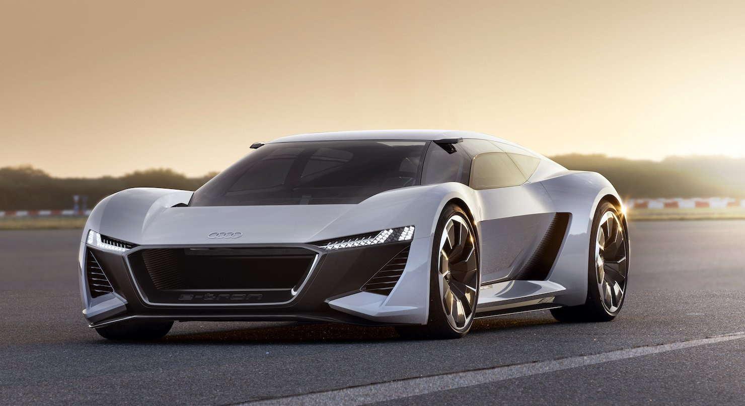0 to 62 mph in 2 secs with looks that rival a stealth fighter - This could be Audi's answer to the Tesla Roadster -