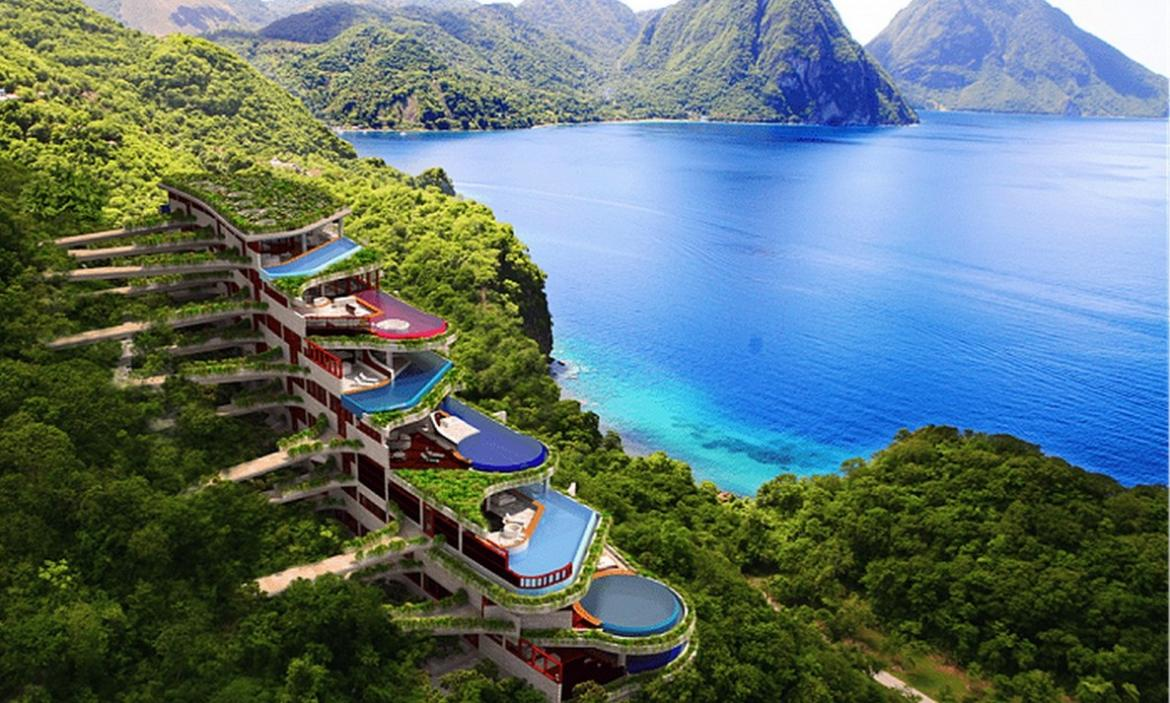 the jade mountain resort in st lucia will get an intriguing sister