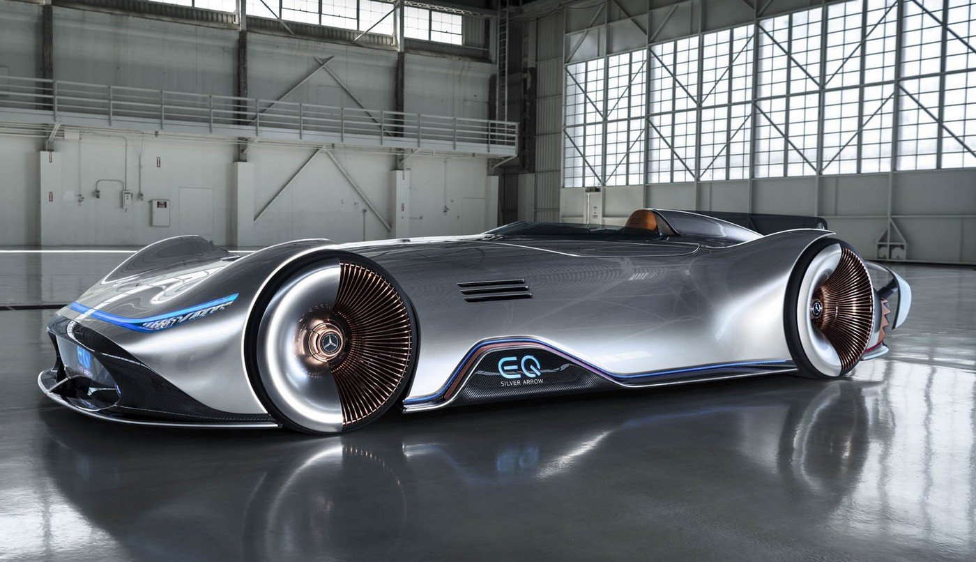 This futuristic Mercedes electric concept pays tribute to the brand's iconic land speed record car