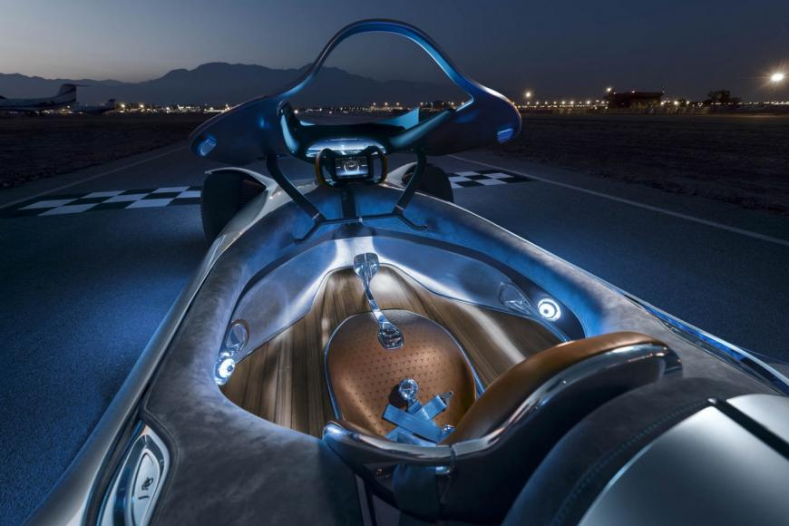 Most Expensive Cars >> This futuristic Mercedes electric concept pays tribute to the brand's iconic land speed record car