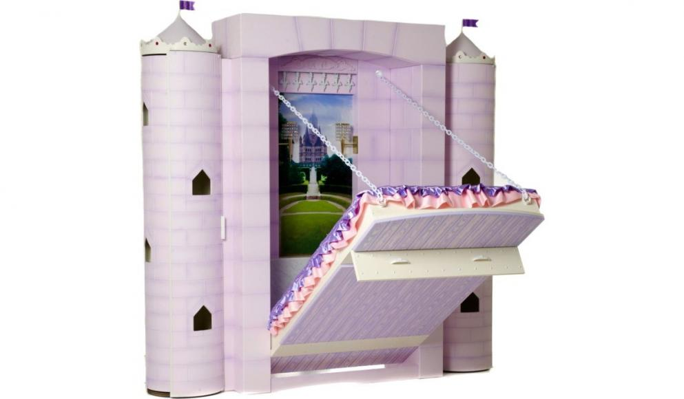 Risultati immagini per Just for your little princess – A $ 7,500 bed that drops out from a castle foto